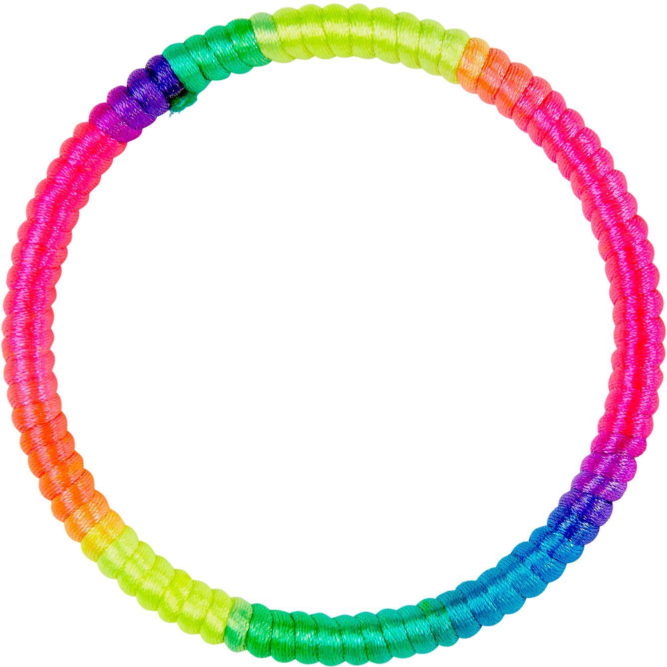 Meerkleurige neon armband
