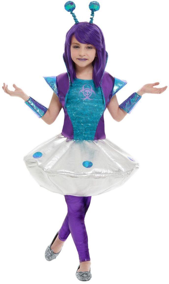 Meisjes alien jurk