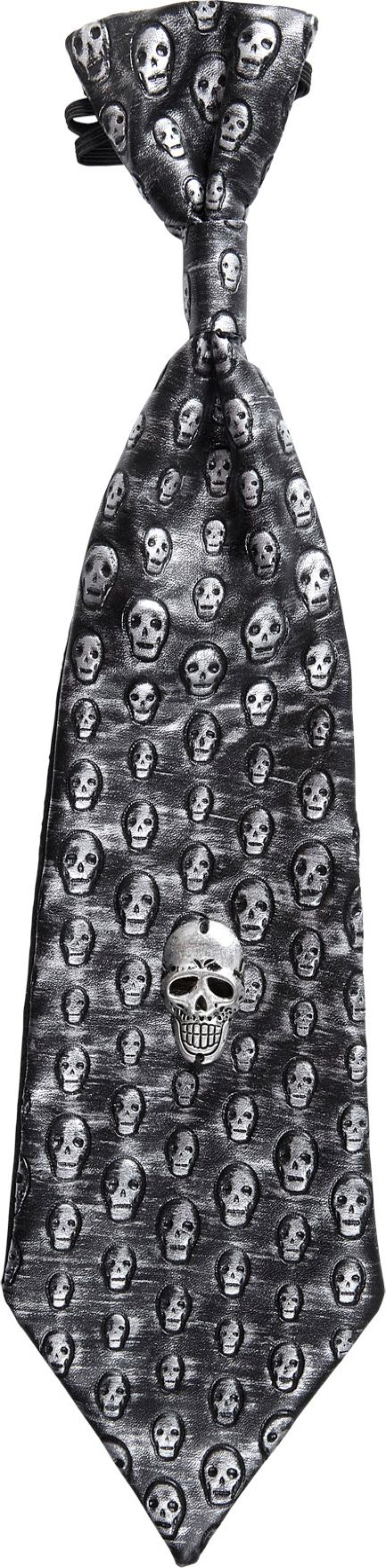Metallic schedel stropdas