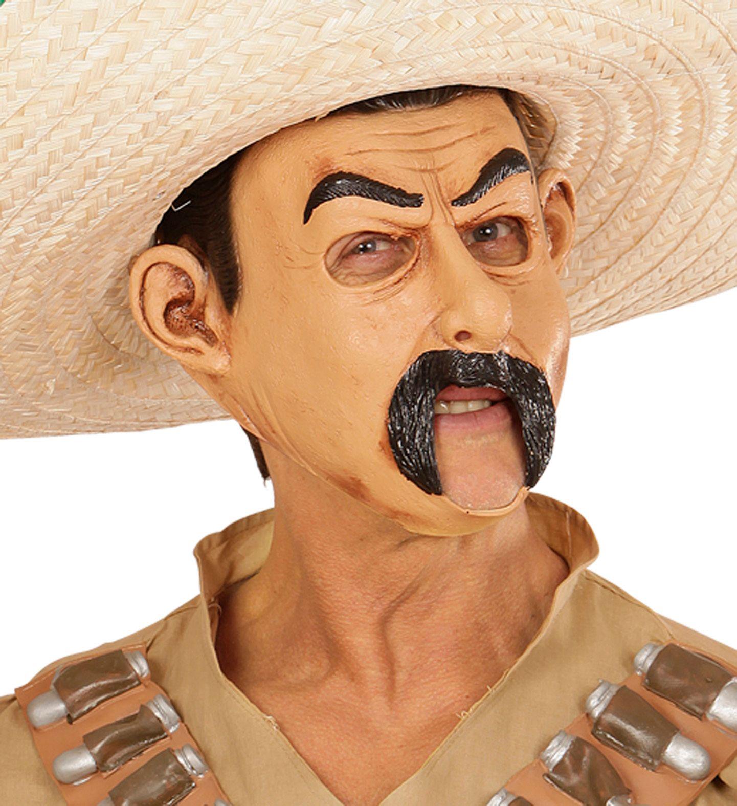Mexicaan masker met open mond