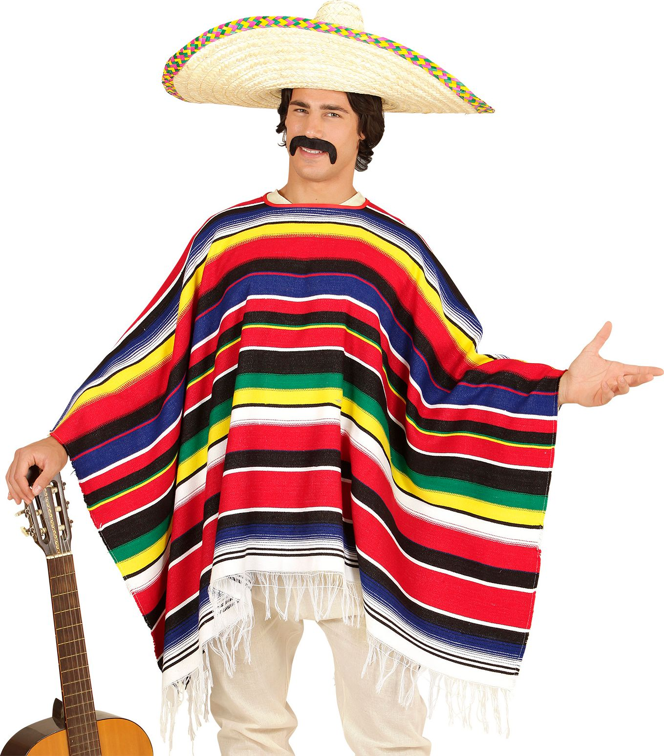 Mexicaanse heren poncho