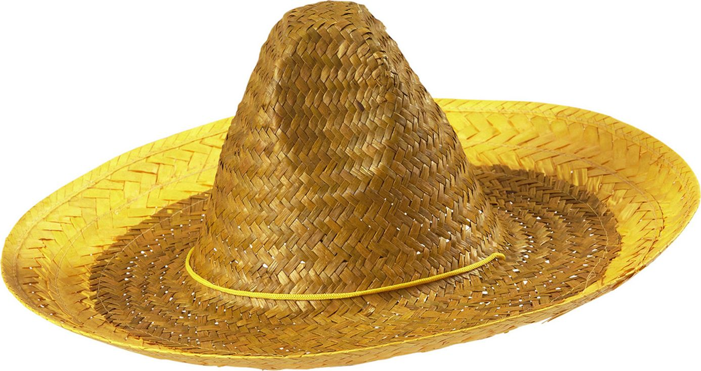 Mexicaanse hoed geel