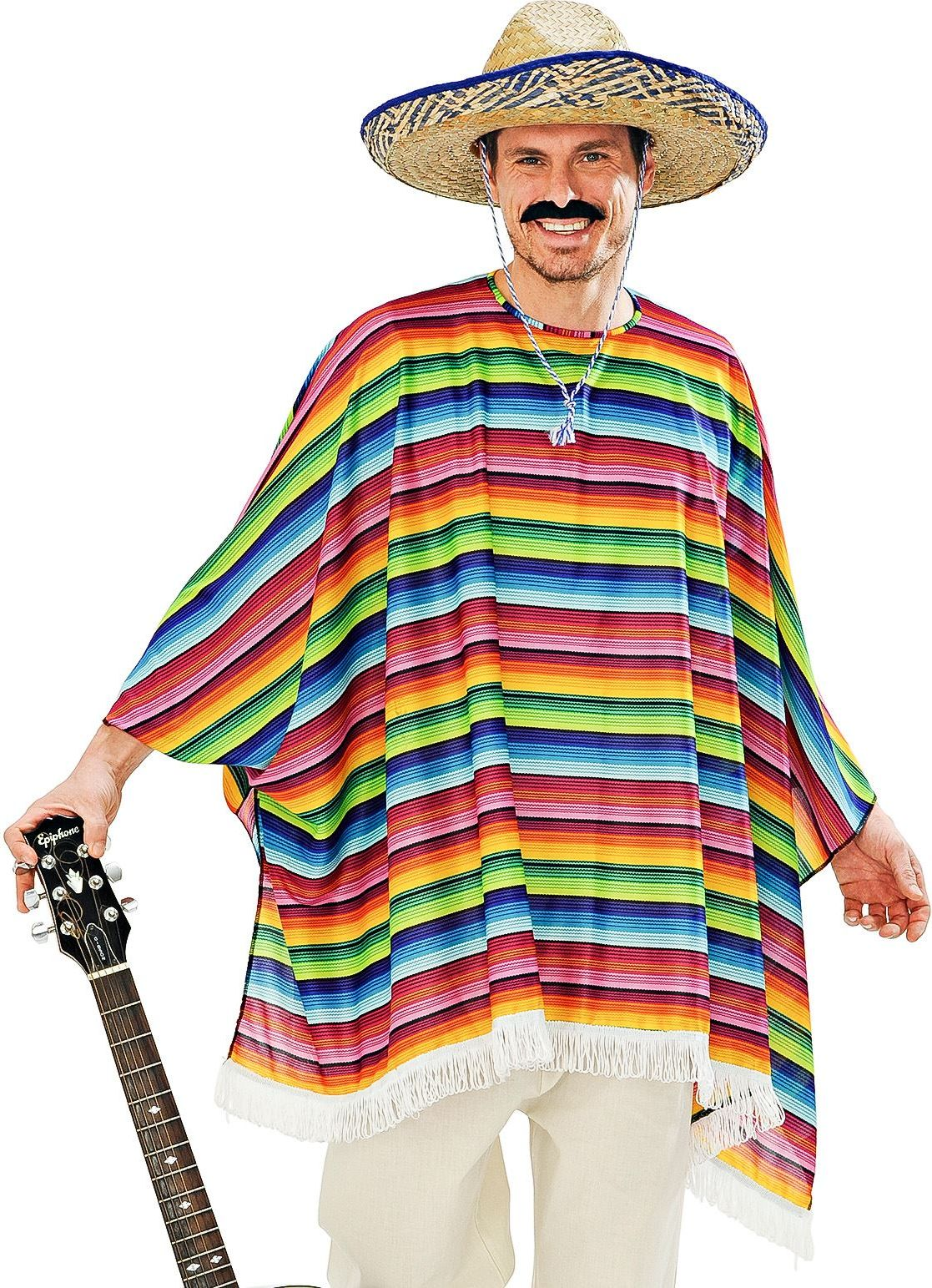 Mexicaanse poncho set en sombrero