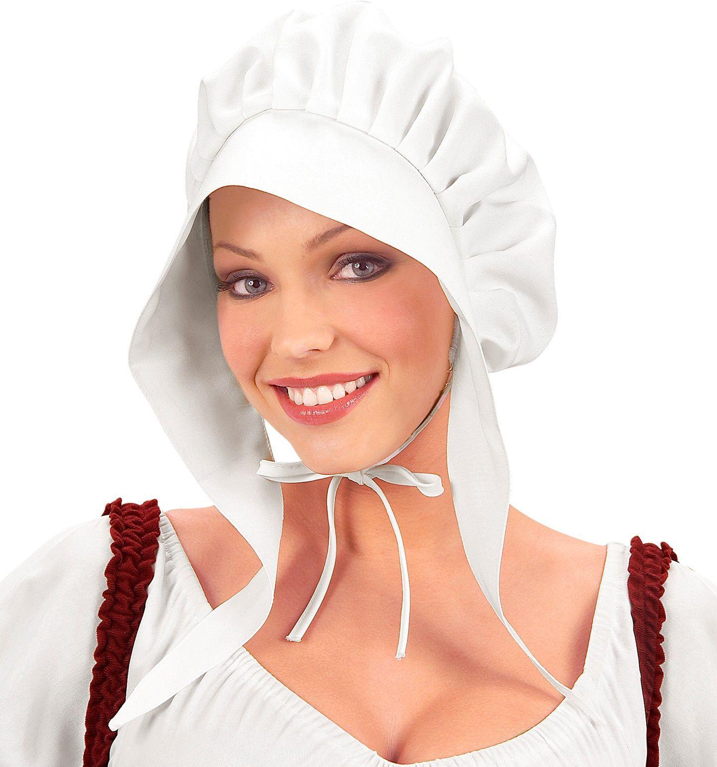 Middeleeuwse boerin bonnet