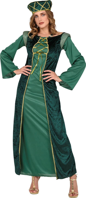 Middeleeuwse groene jurk