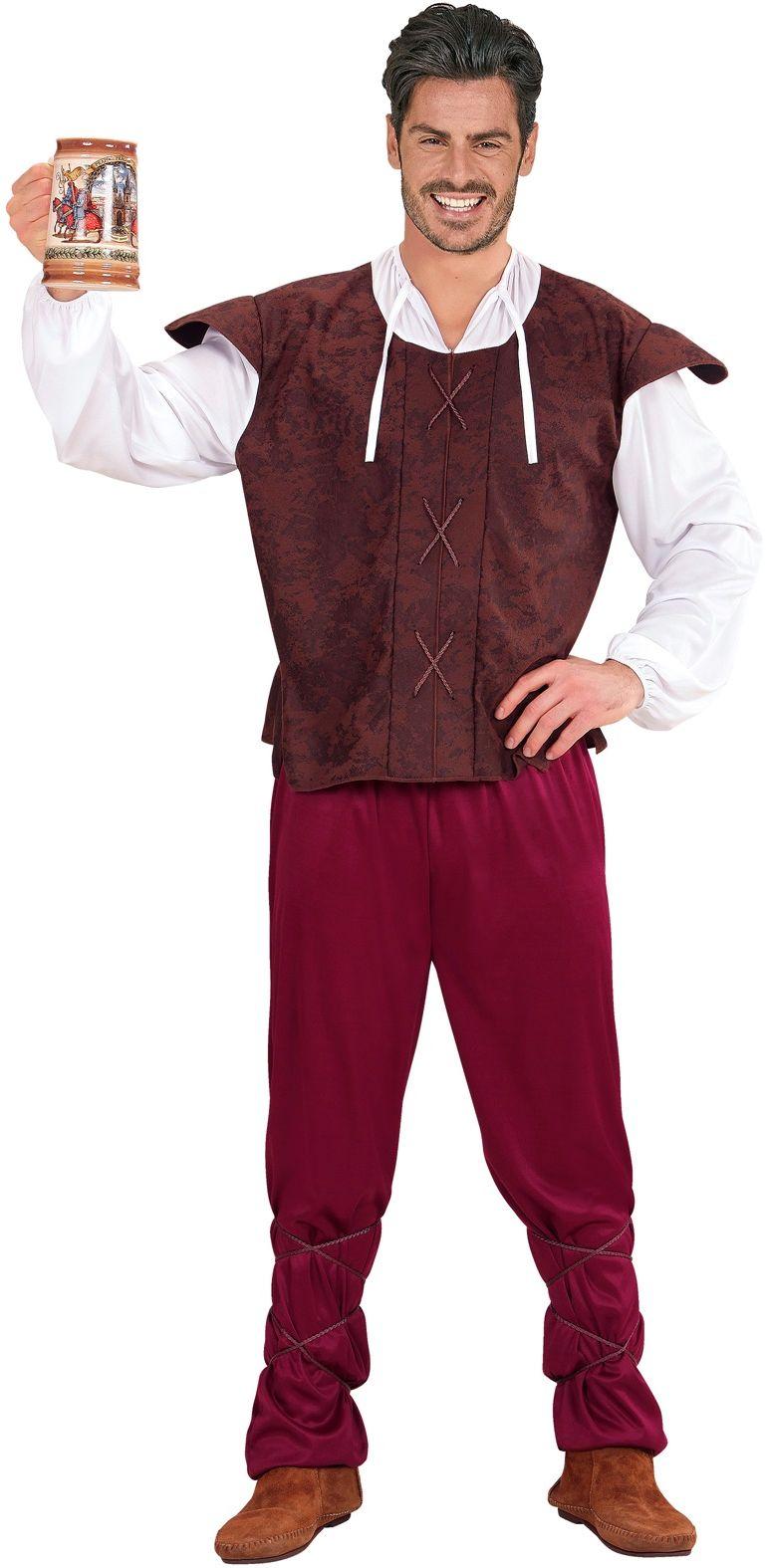 Middeleeuwse herbergier kostuum