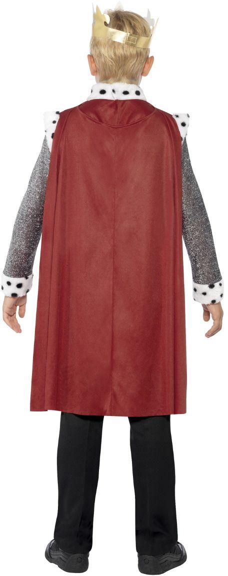 Middeleeuwse koning Arthur kostuum rood