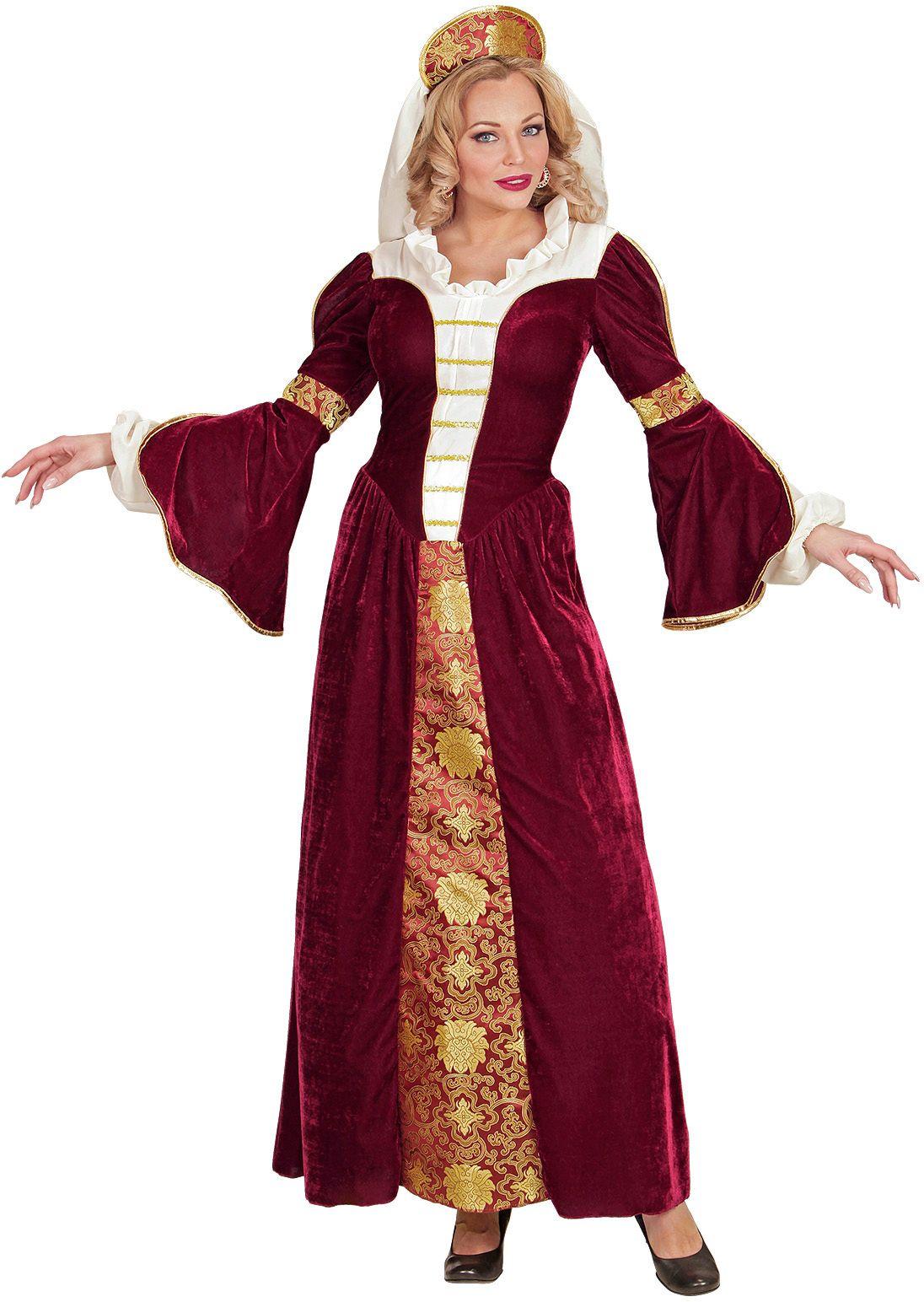 Middeleeuwse koningin jurk