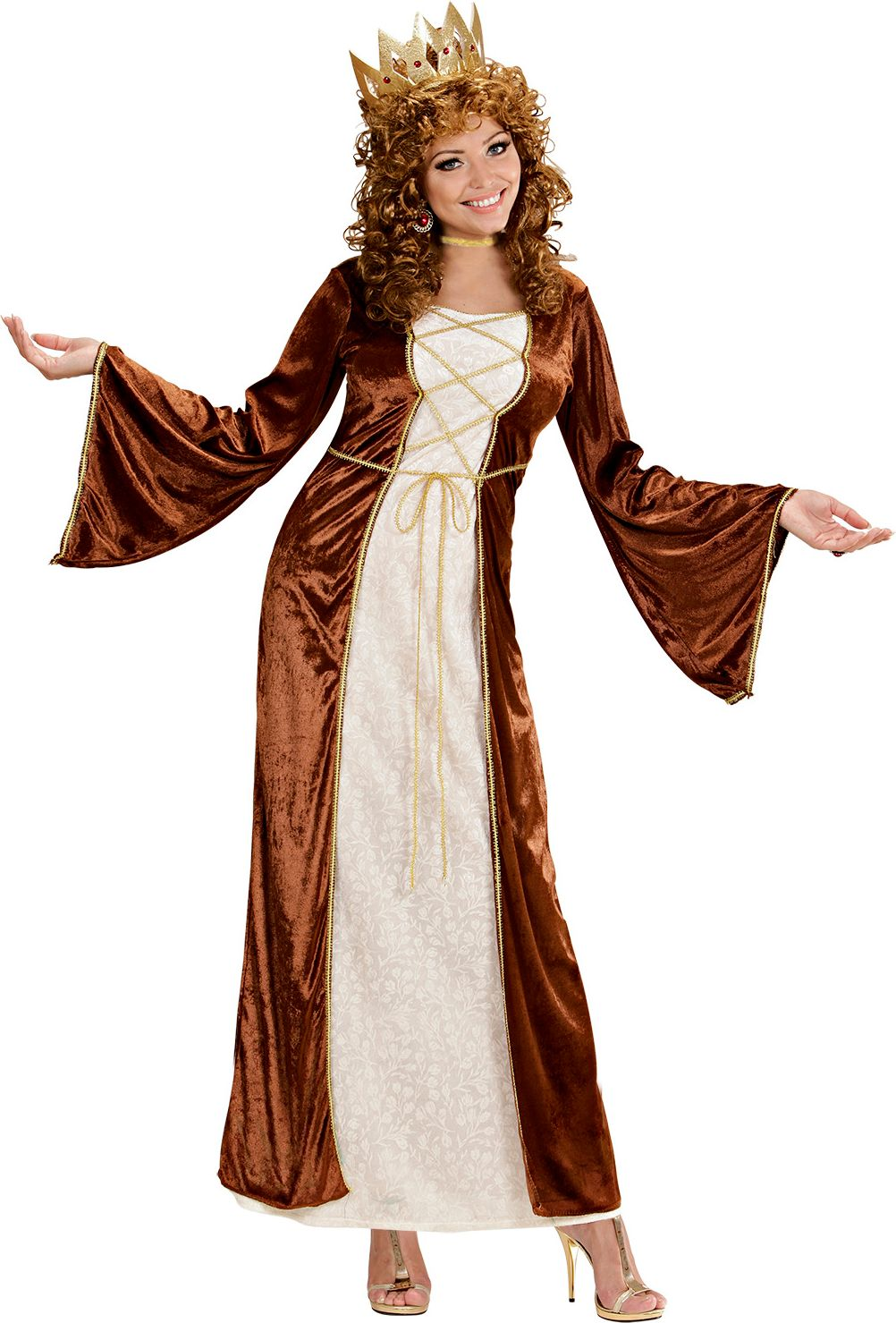 Middeleeuwse prinses kostuum