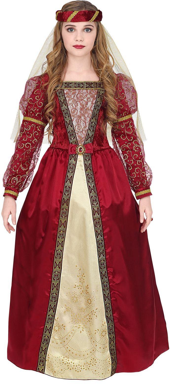 Middeleeuwse prinsessen jurk rood