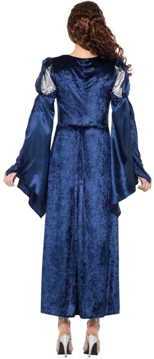 Middeleeuwse vrouwen jurk blauw