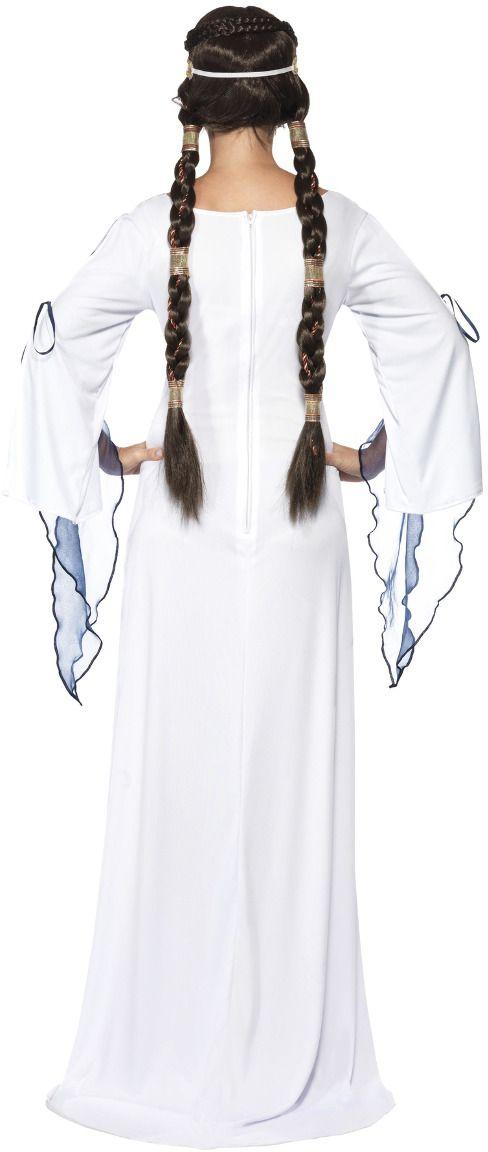Middeleeuwse witte vrouwen jurk