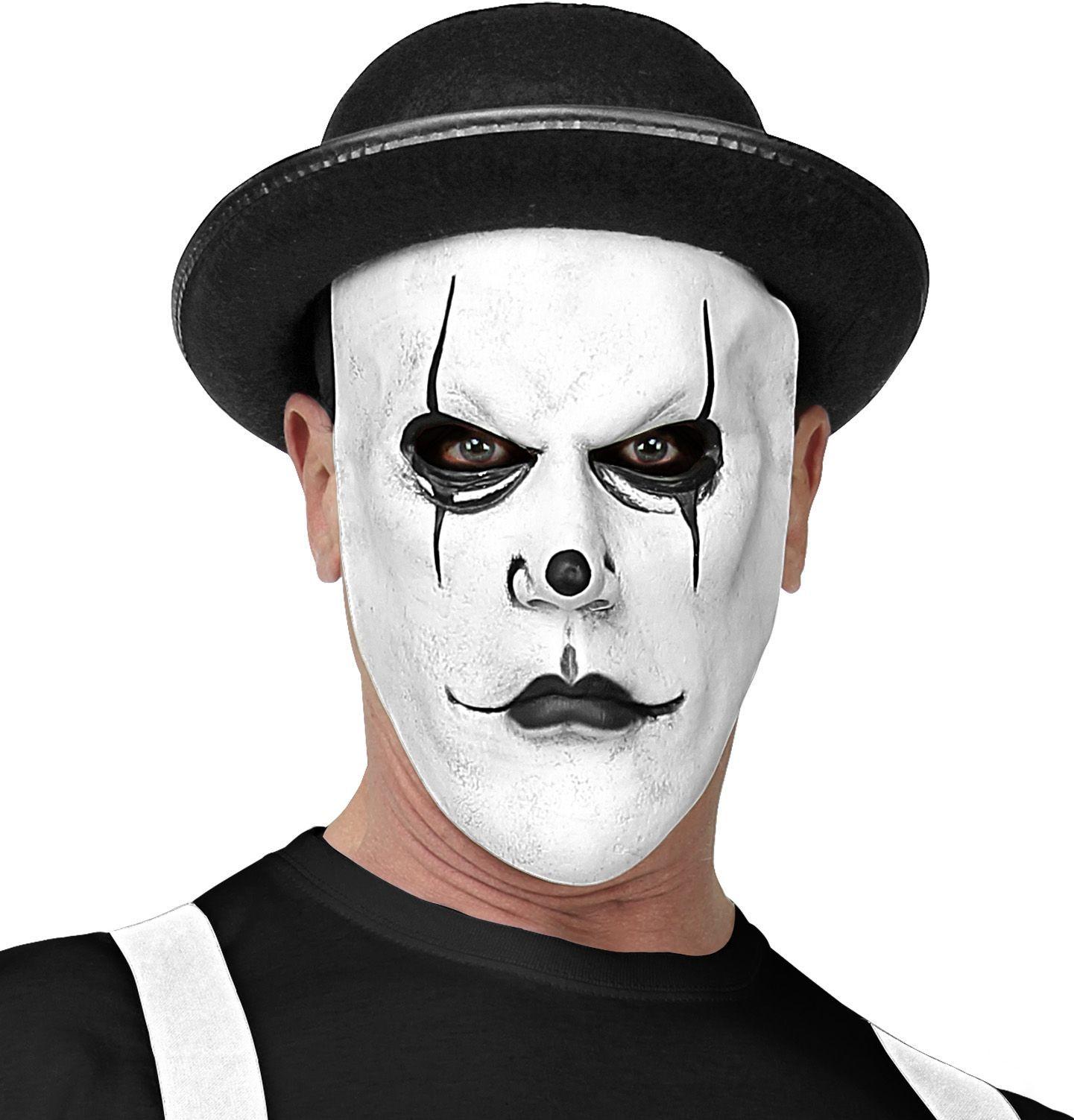 Mime speler masker wit