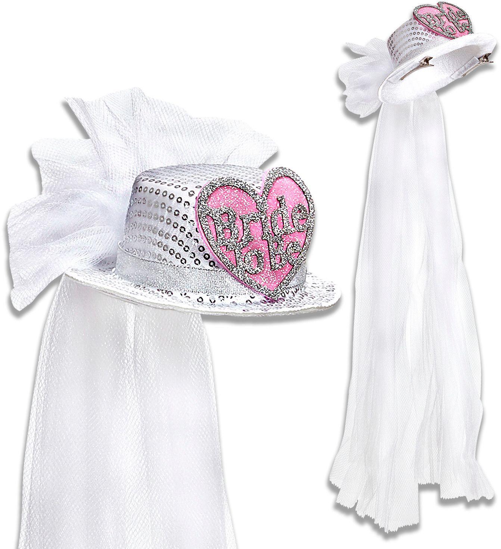 Mini Bride-to-be hoge hoed met sluier