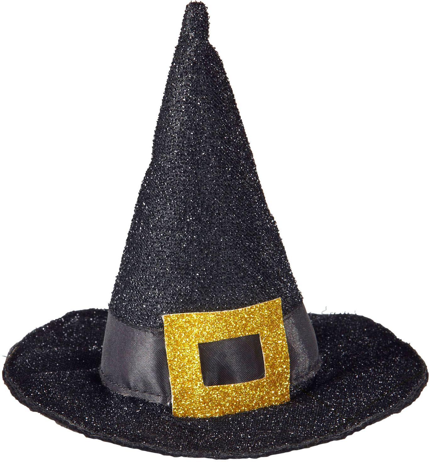 Mini glitter heksenhoedje