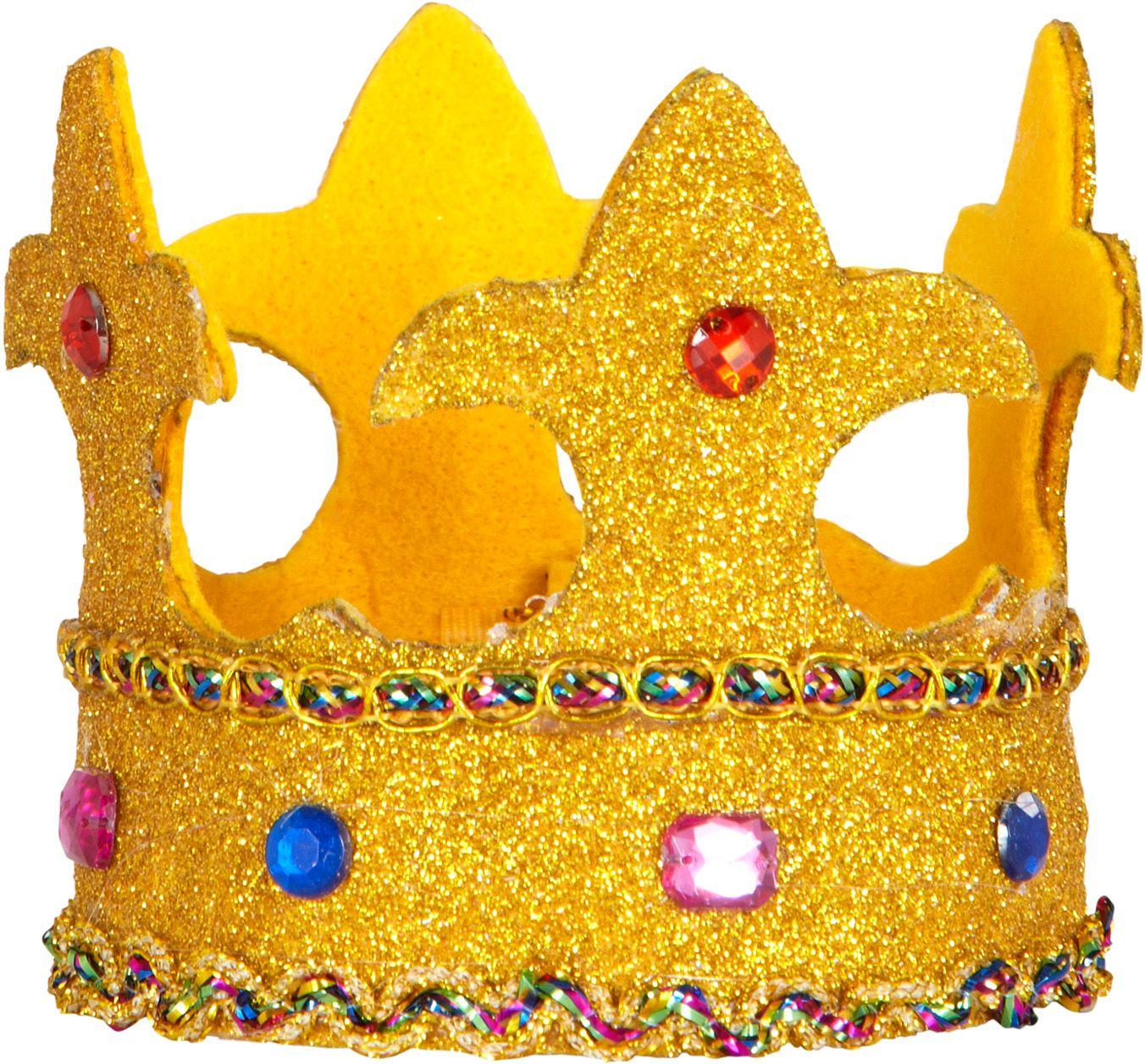 Mini glitter kroon met juwelen