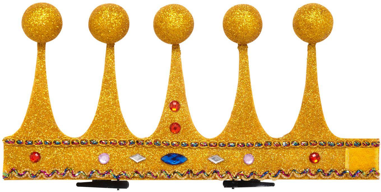 Mini gouden koning kroon