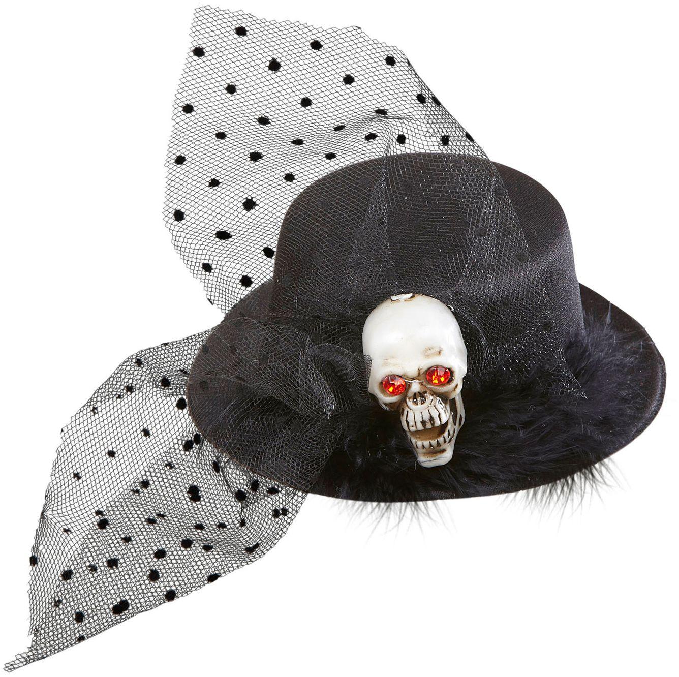 Mini hoedje met schedel