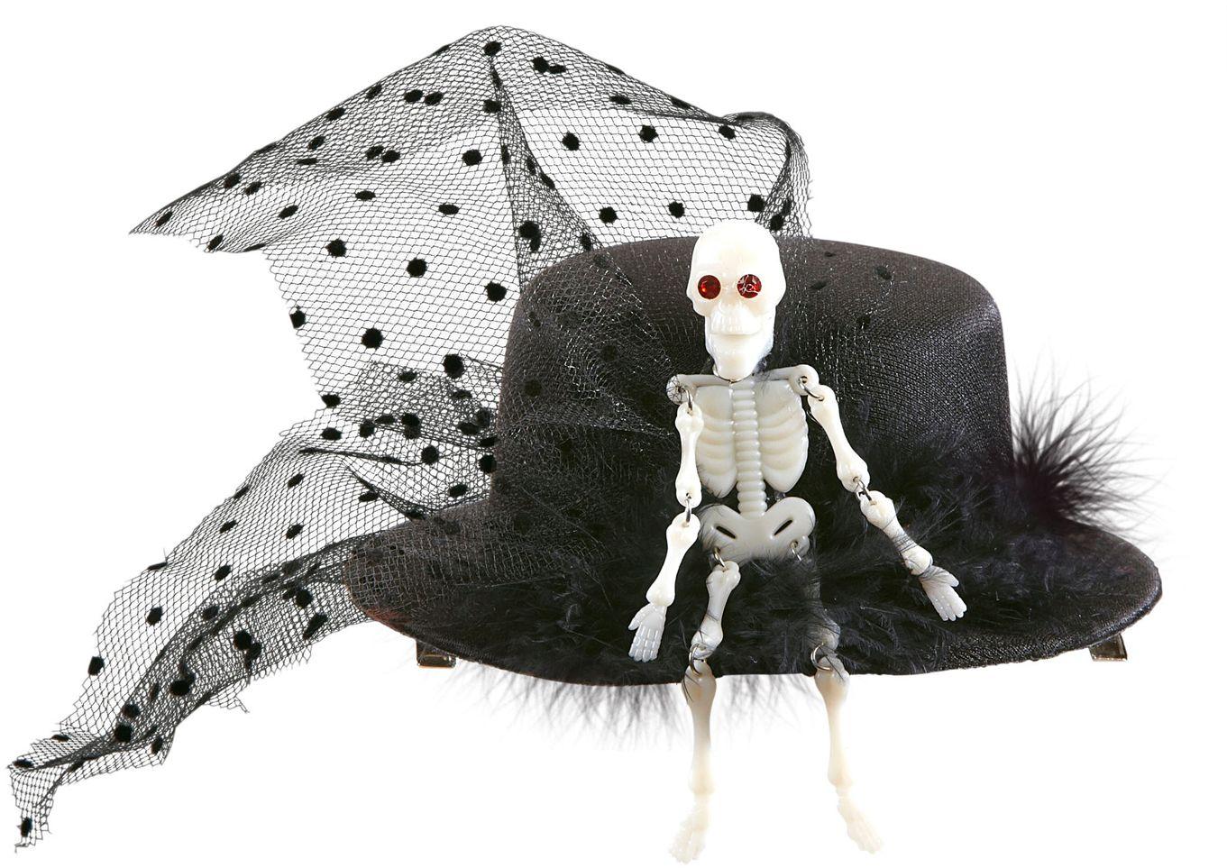 Mini hoedje met skelet