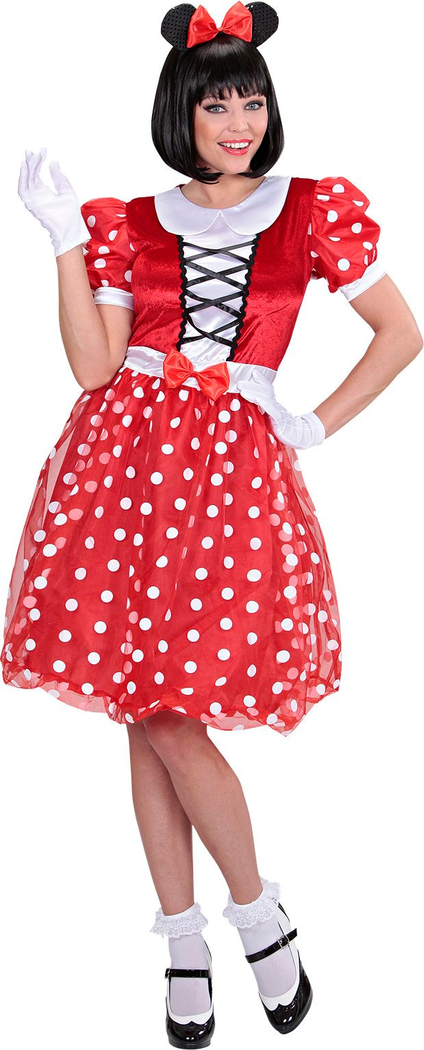 Minnie Mouse dames kostuum