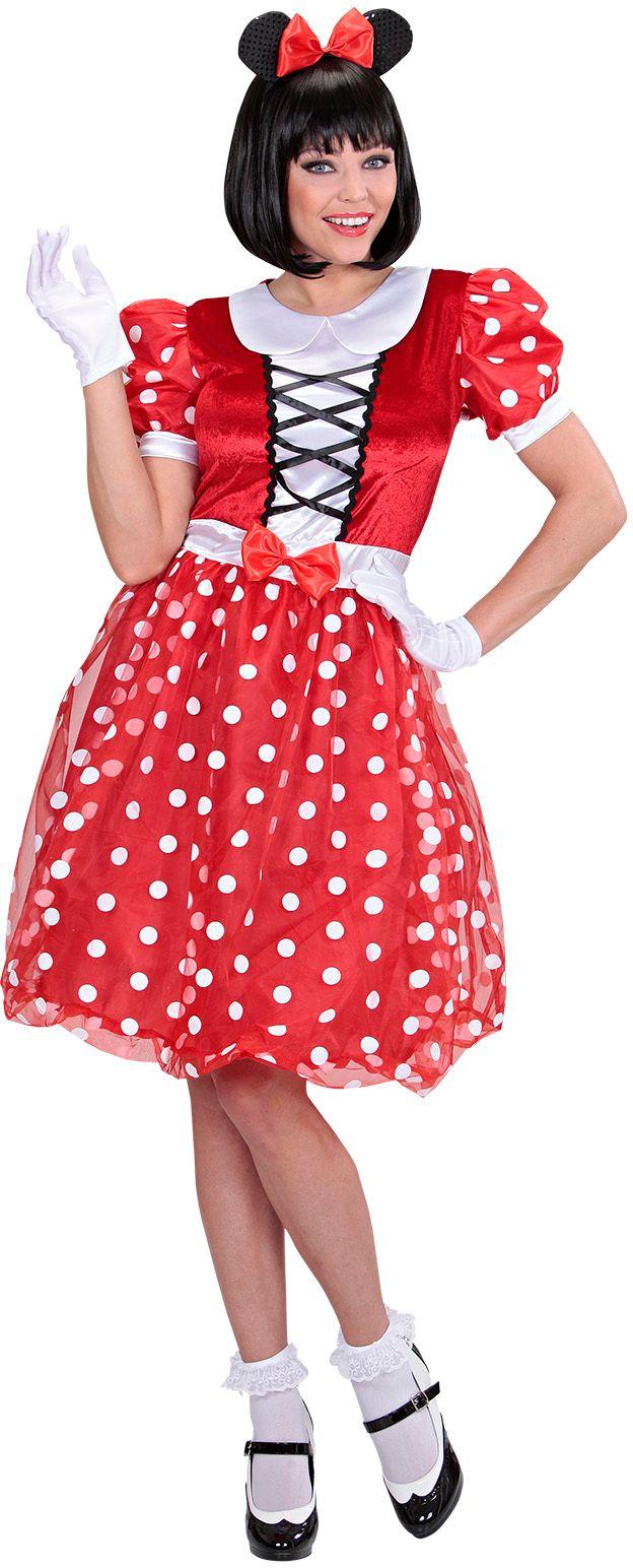 Minnie Mouse dames kostuum