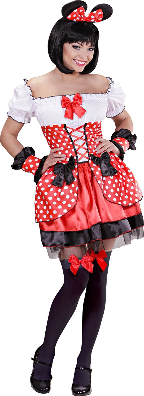 Minnie mouse jurkje rood
