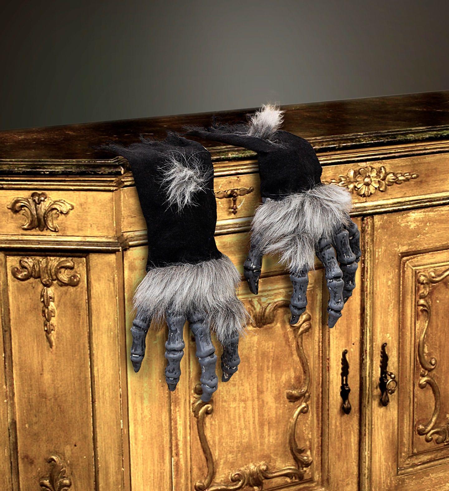 Monster handschoenen met vacht