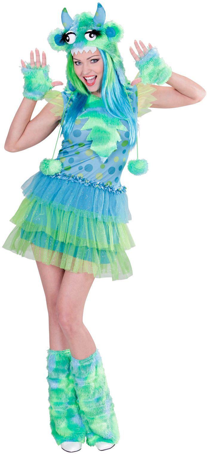 Monster kostuum dames Groen