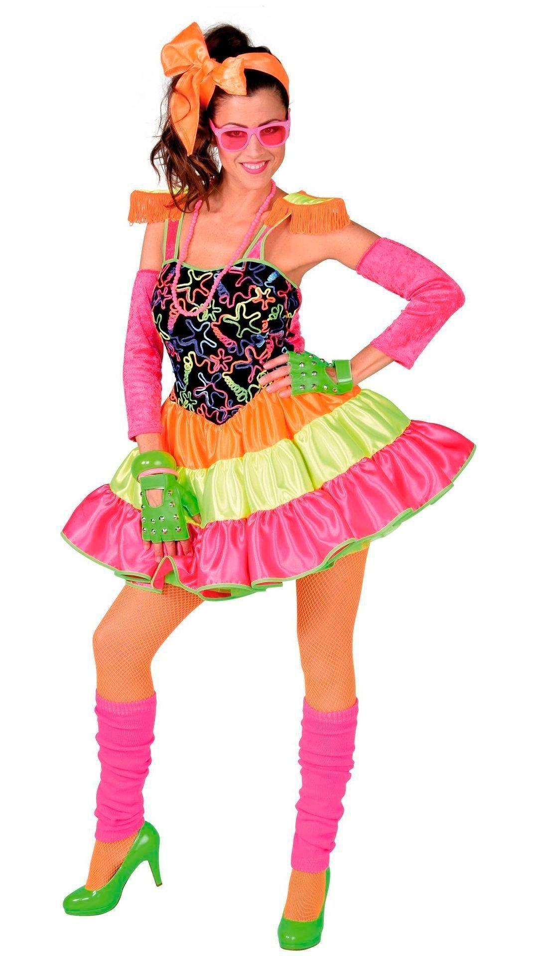 Multi fluor kleuren jurkje