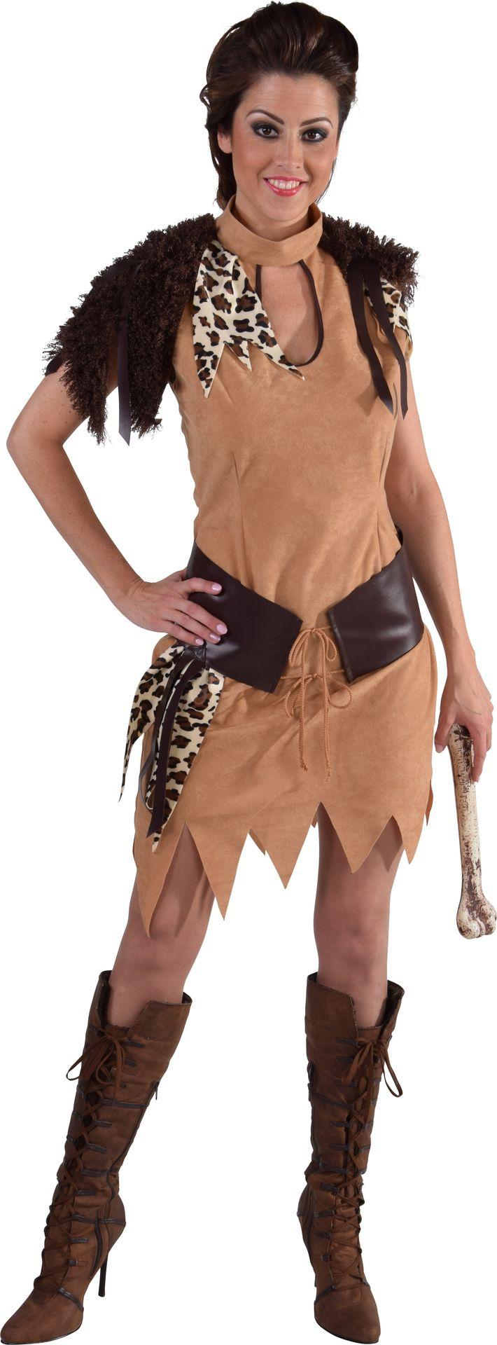Neanderthaler jurk carnaval vrouwen