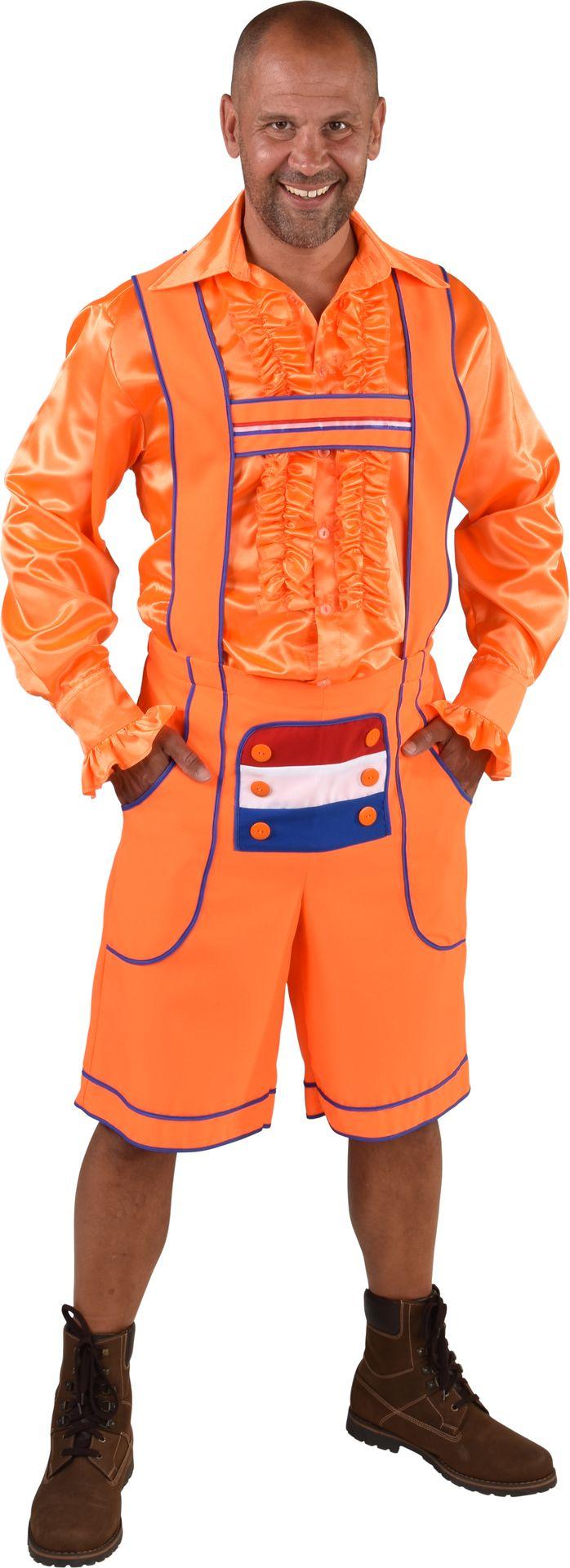 Nederlandse tirolerbroek oranje heren