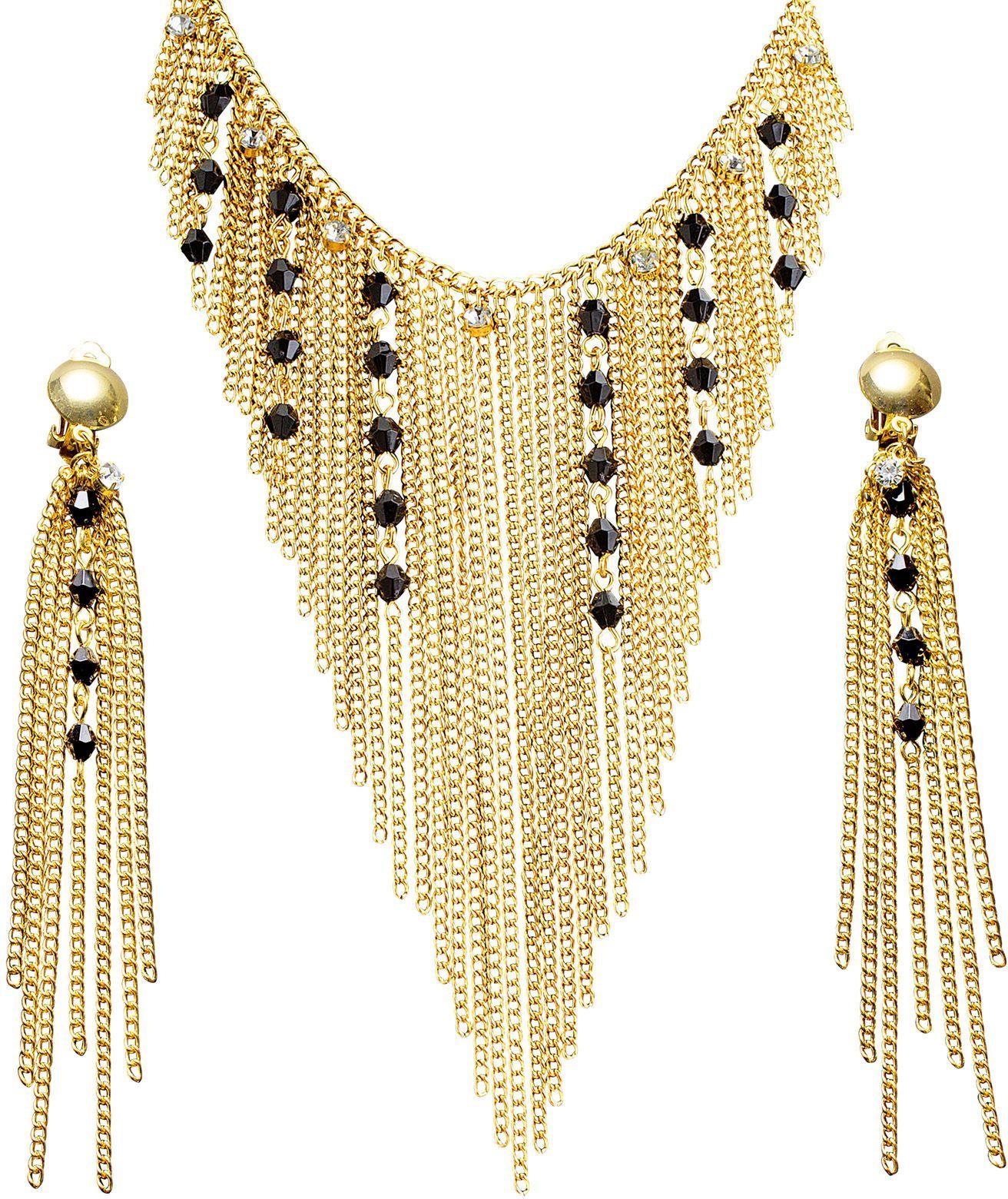 Nefertiti accessoires set ketting en oorbellen