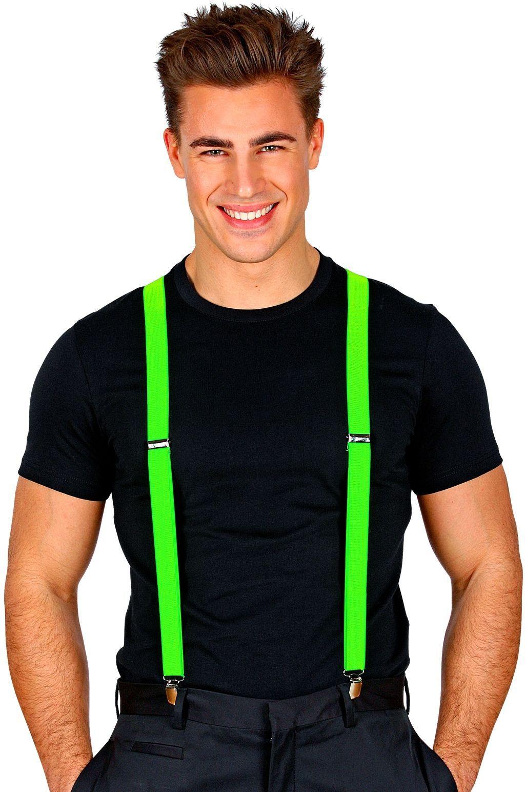 Neon bretels groen