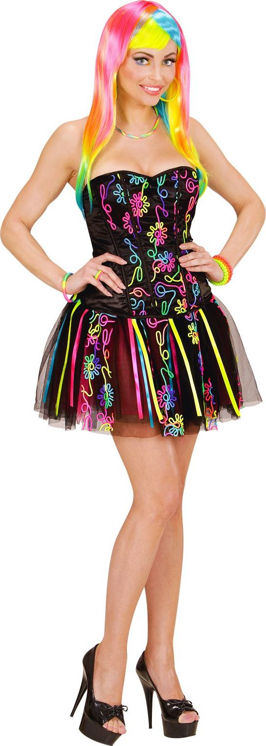 Neon fantasy girl kostuum