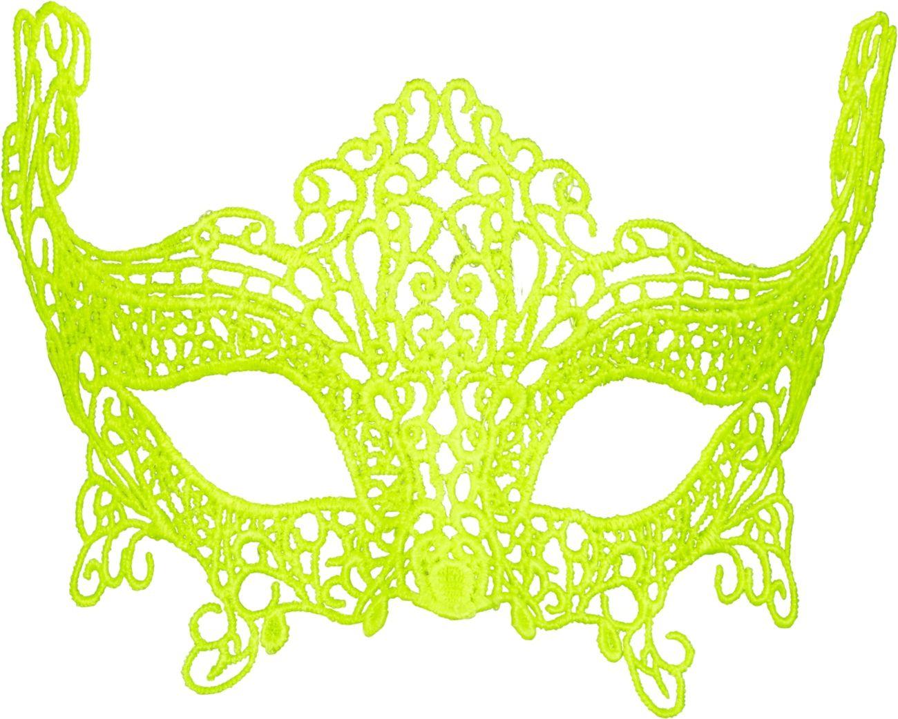 Neon geel kanten oogmasker