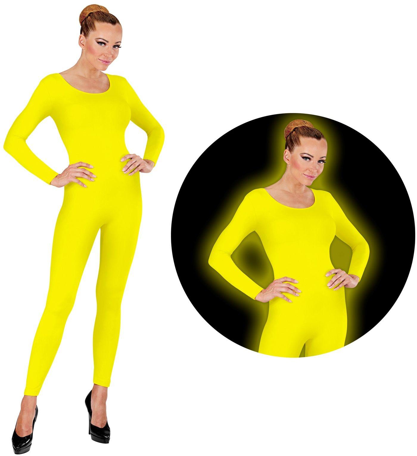 Neon gele bodysuit