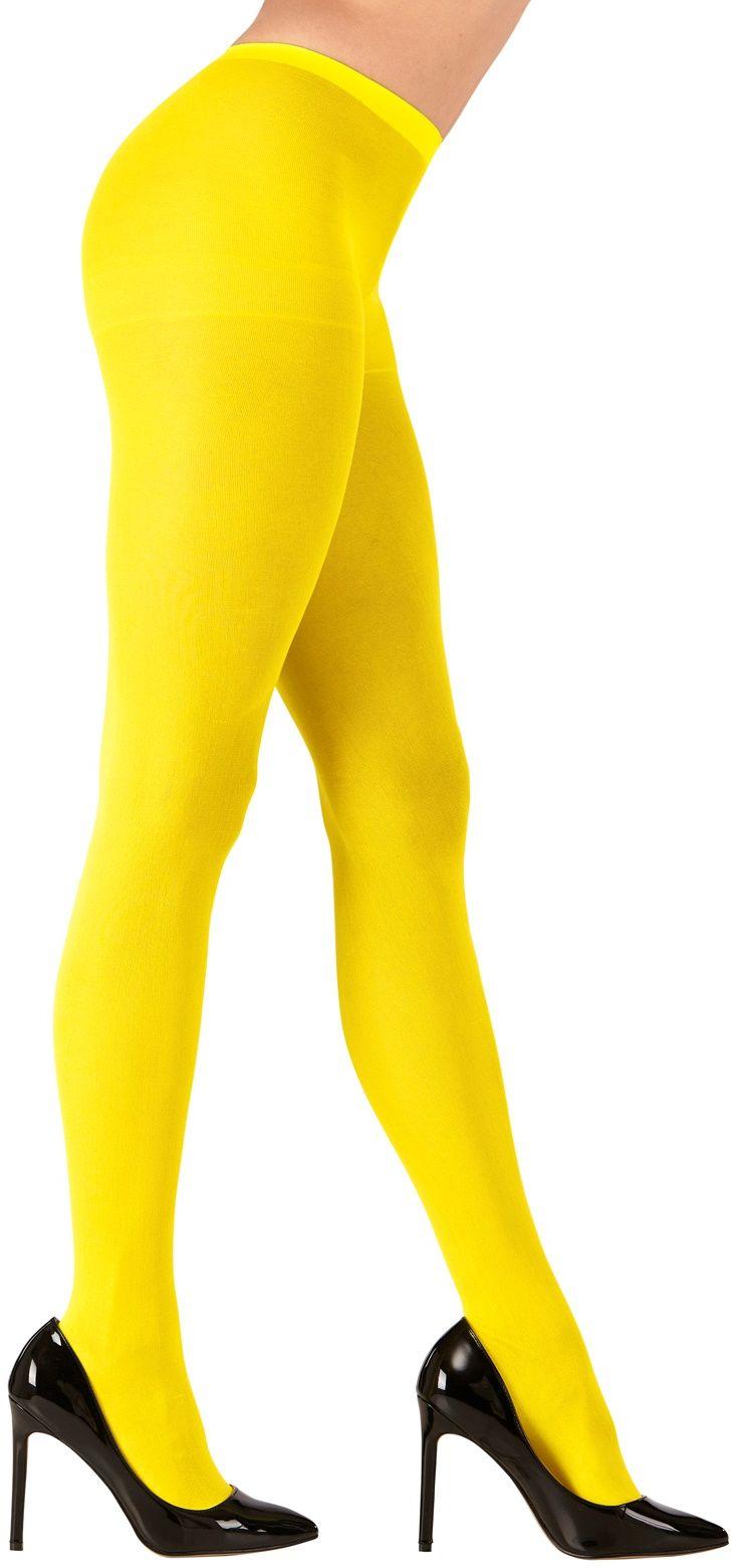 Neon gele panty