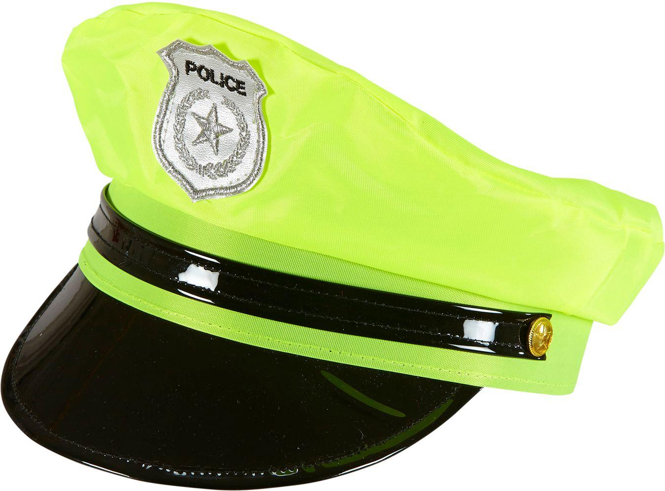 Neon gele politie pet