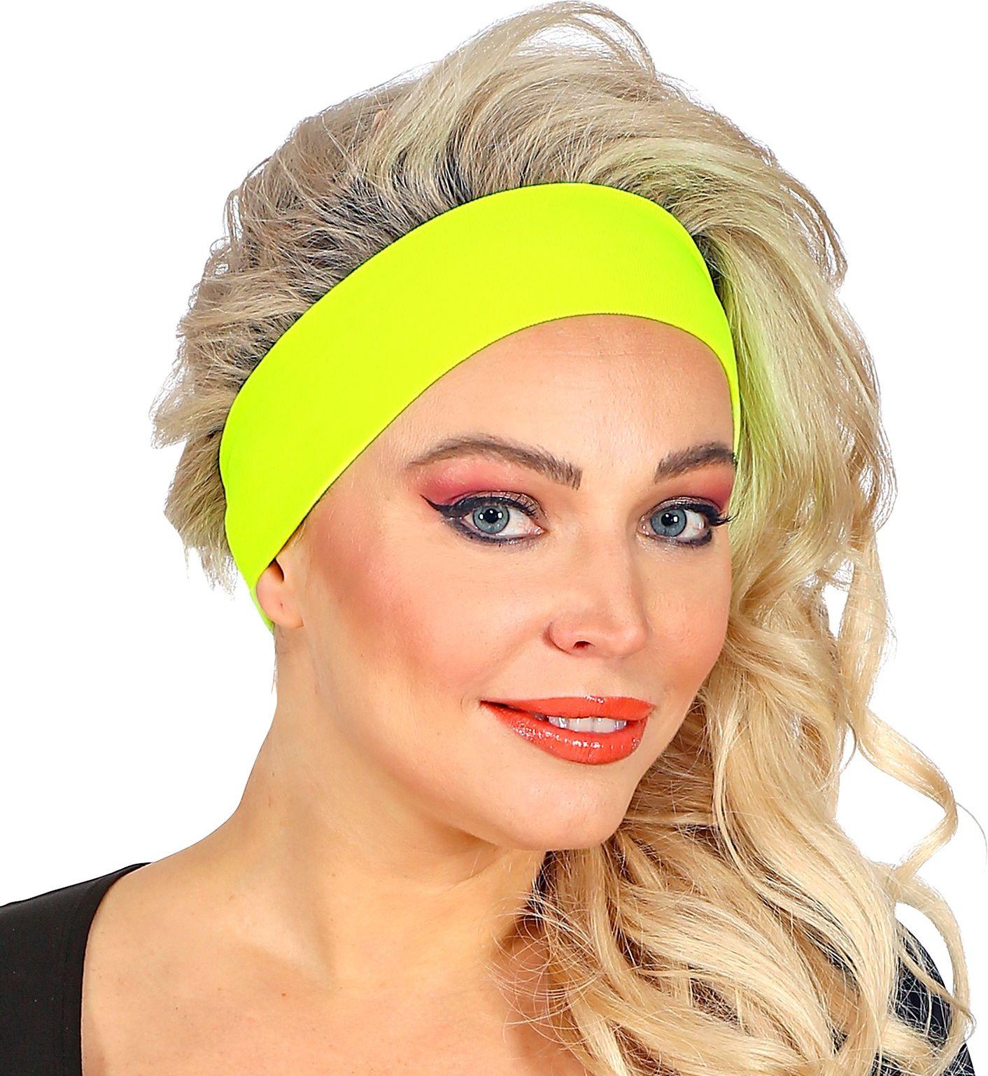 Neon gele retro hoofdband