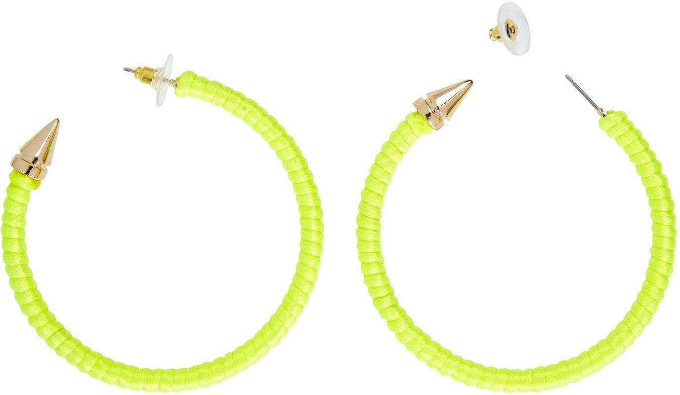 Neon gele ring oorbellen