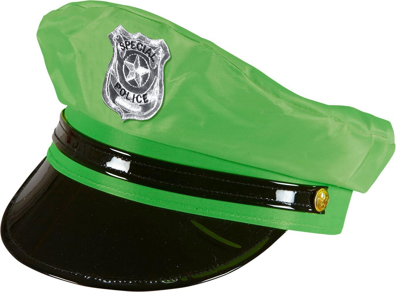 Neon groene politie pet