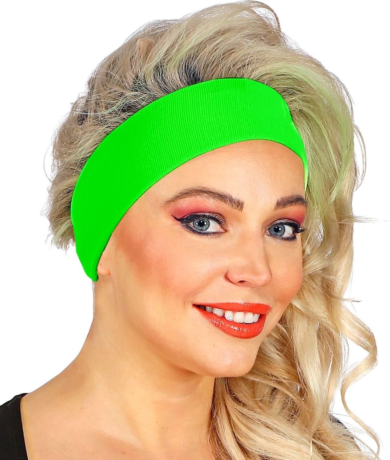 Neon groene retro hoofdband