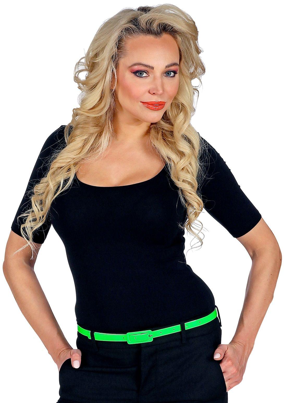Neon groene riem smal