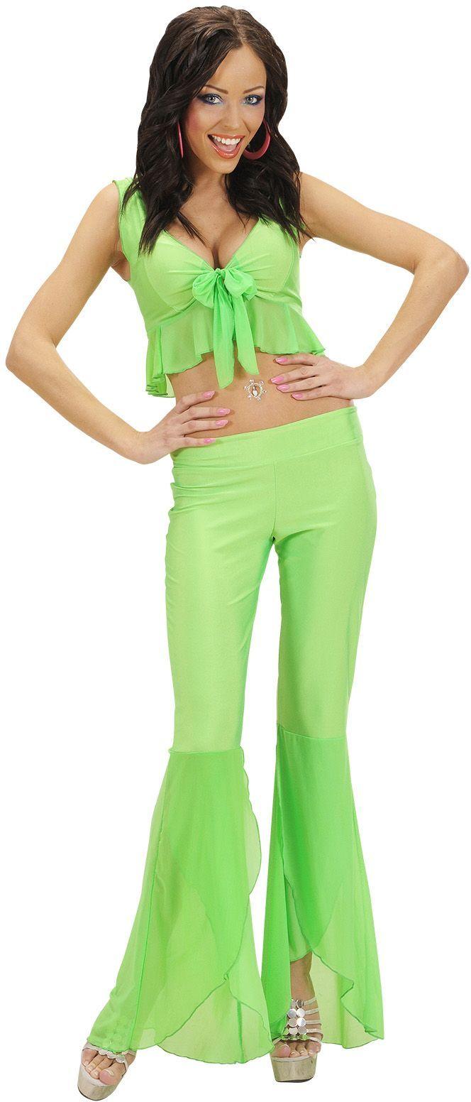 Neon groene samba top en broek