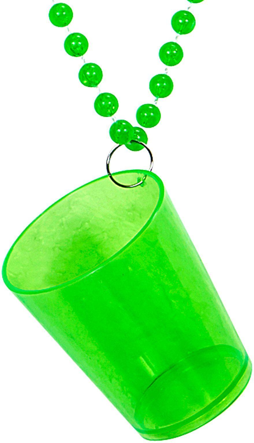 Neon groene shotglas ketting