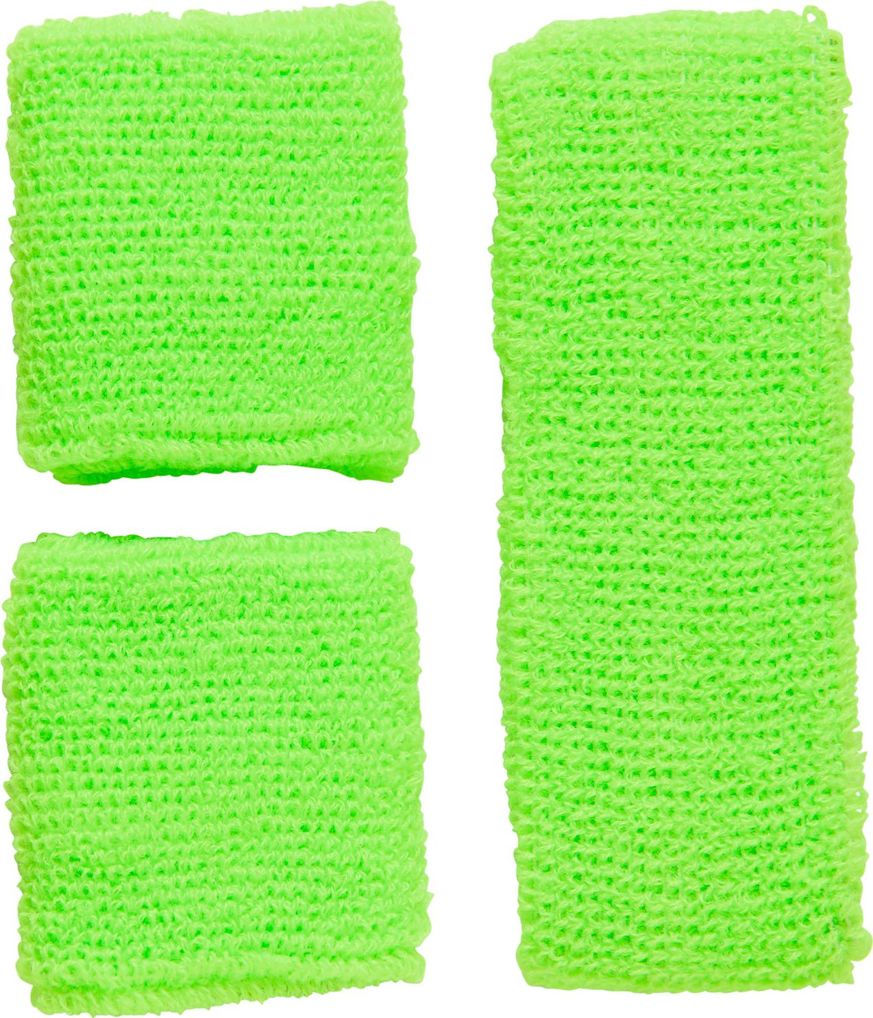 Neon groene zweetband set
