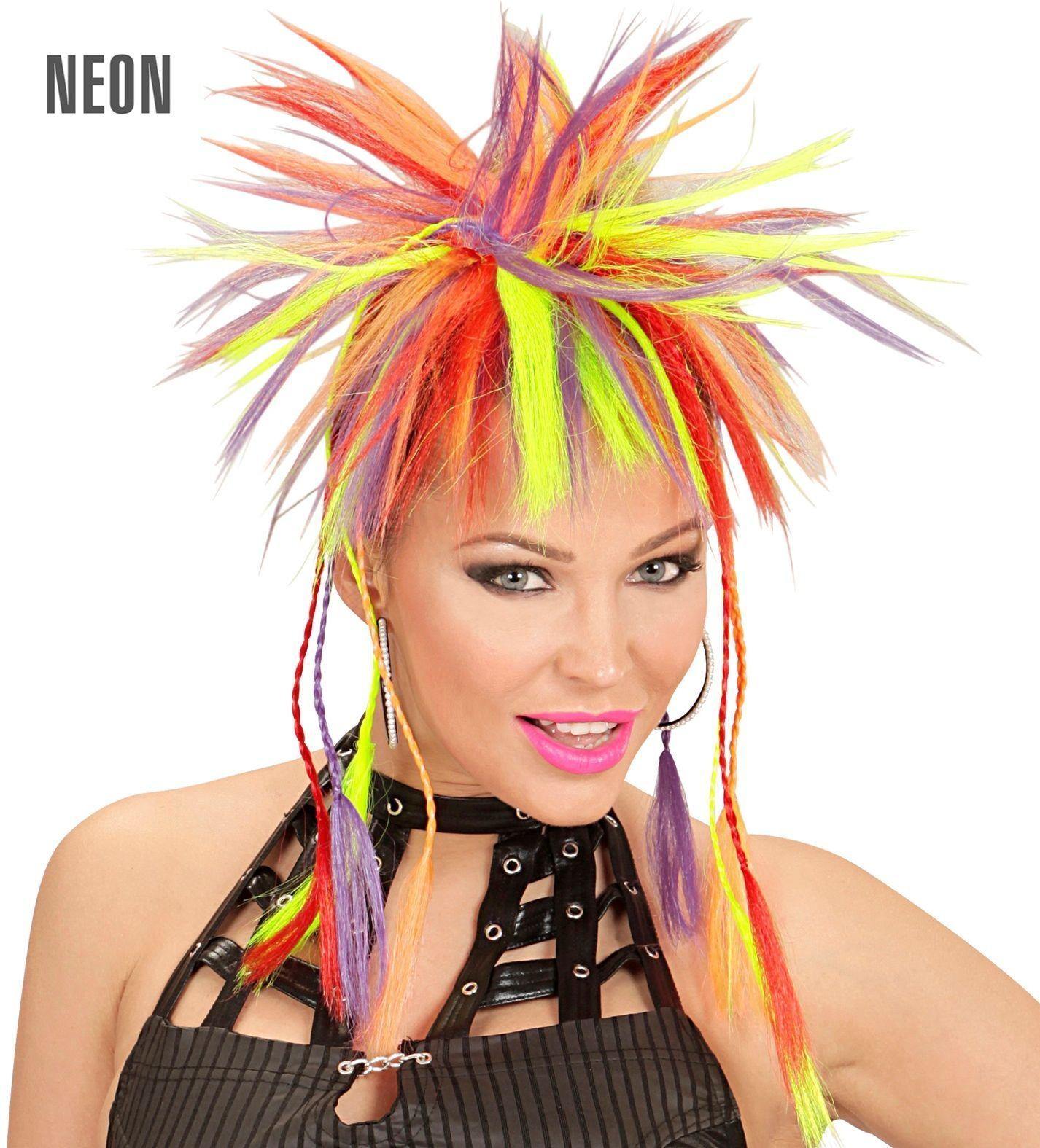 Neon meerkleurige haarextensie