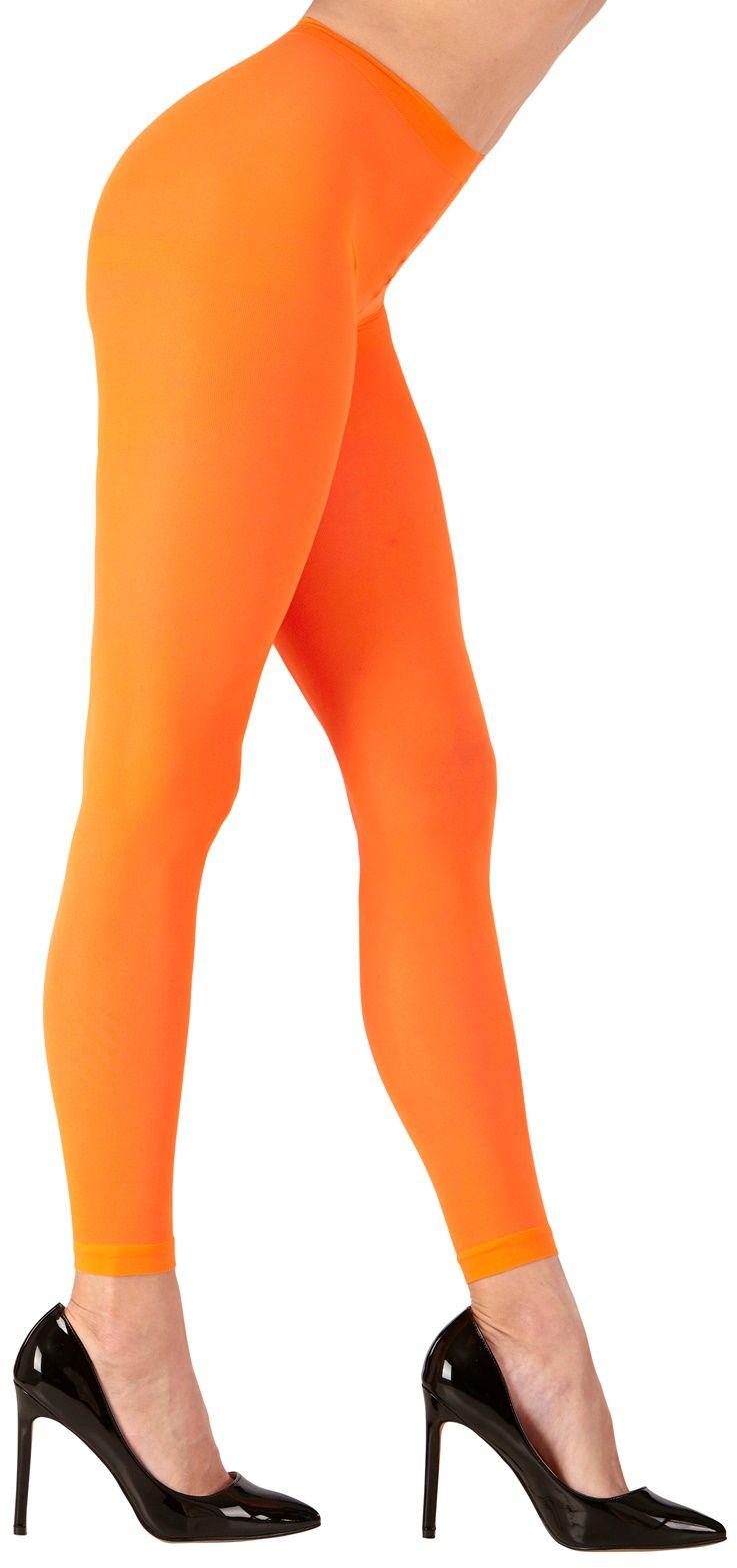 Neon oranje legging One-size-volwassenen