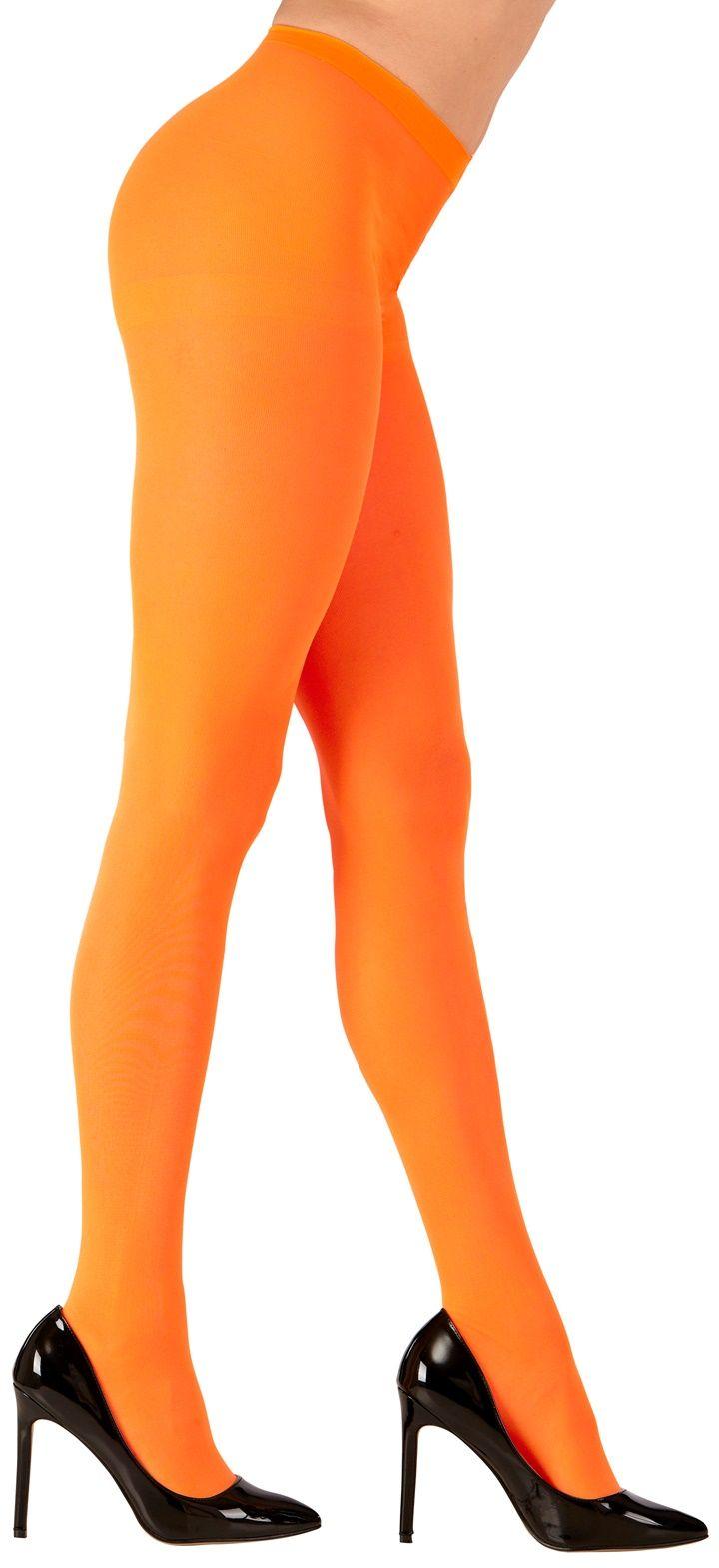 Neon oranje panty