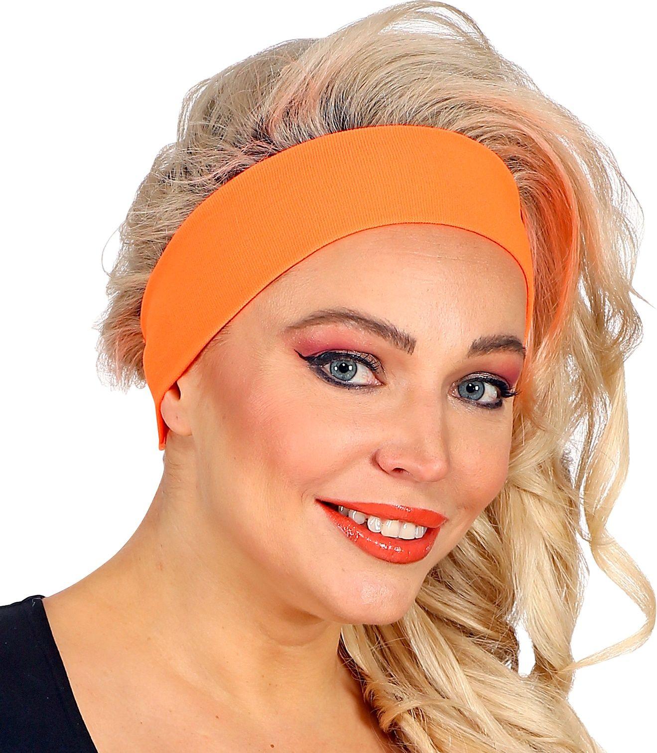 Neon oranje retro hoofdband